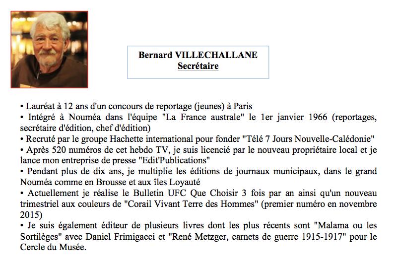 Bernard Villechalane : Secrétaire